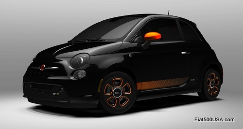 Fiat 500e in Nero with e-Sport Package