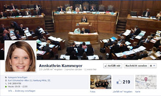Screenshot Facebook-Seite Annkathrin Kammeyer (SPD)