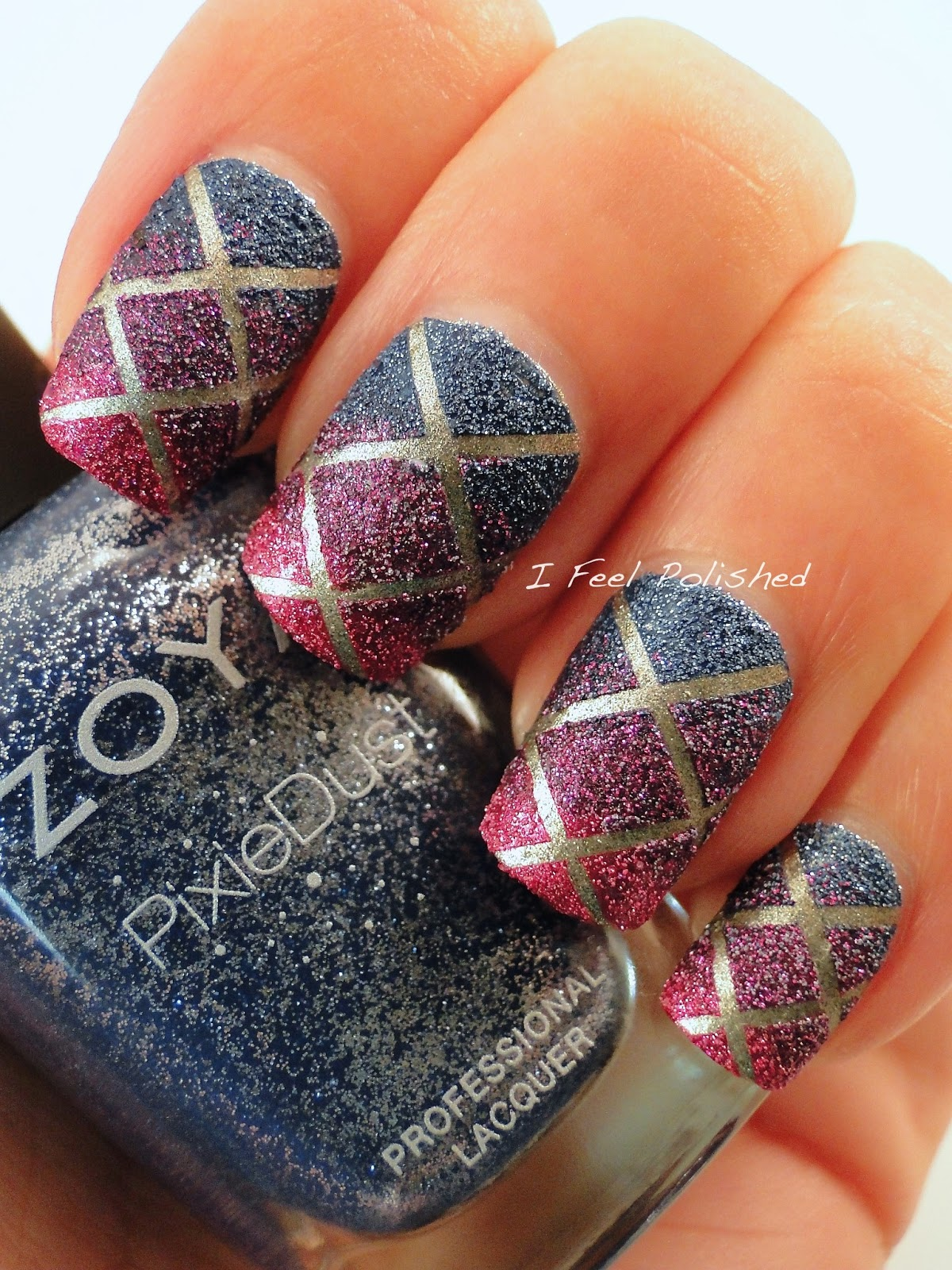 I Feel Polished!: Pixie Dust Striping Tape Nails