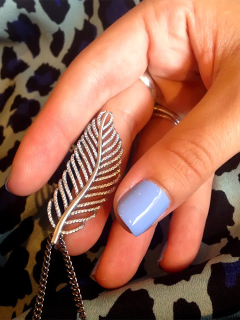 Pandora feather pendant necklace