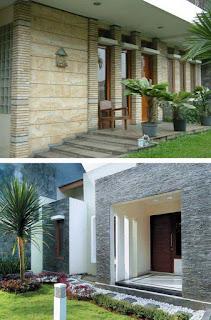 model rumah minimalis dengan batu alam