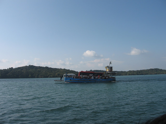 Ferry Carrying People, Bus and other vehicles