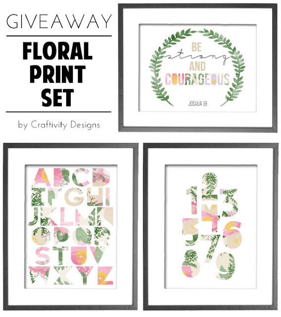 Floral Print Set GIVEAWAY // 3 Prints Shipped // Craftivity Designs