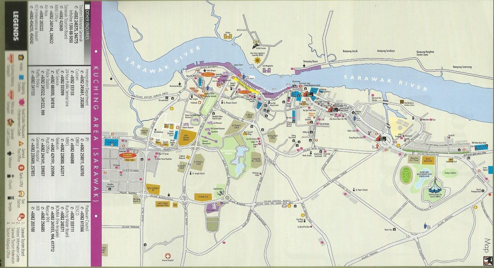 Interesting Corner Of Me Kuching Maps - Kuching map