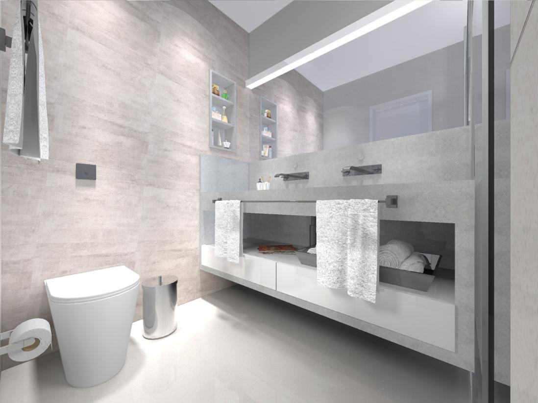 BANHEIRO COMPARATO ARQUITETURA #594E49 1098x823 Banheiro Com Porcelanato Concreto