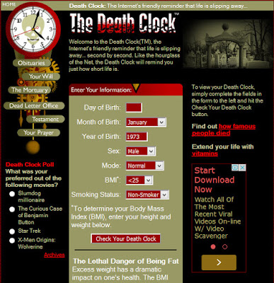 Deathclock இணையதளம்