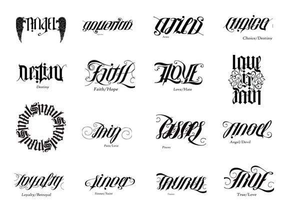Whatevercathieb ambigram tattoos gallery for Tattoos that say something different upside down