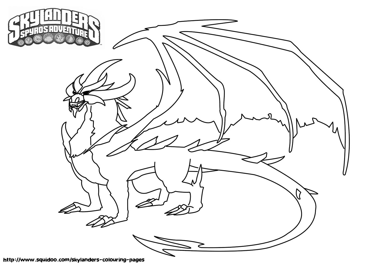 skylanders spyro coloring pages - skylanders cynder free coloring pages