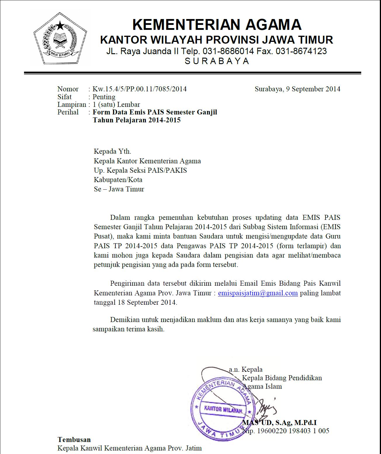 Mgmp Pai Smp Kab Madiun September 2014
