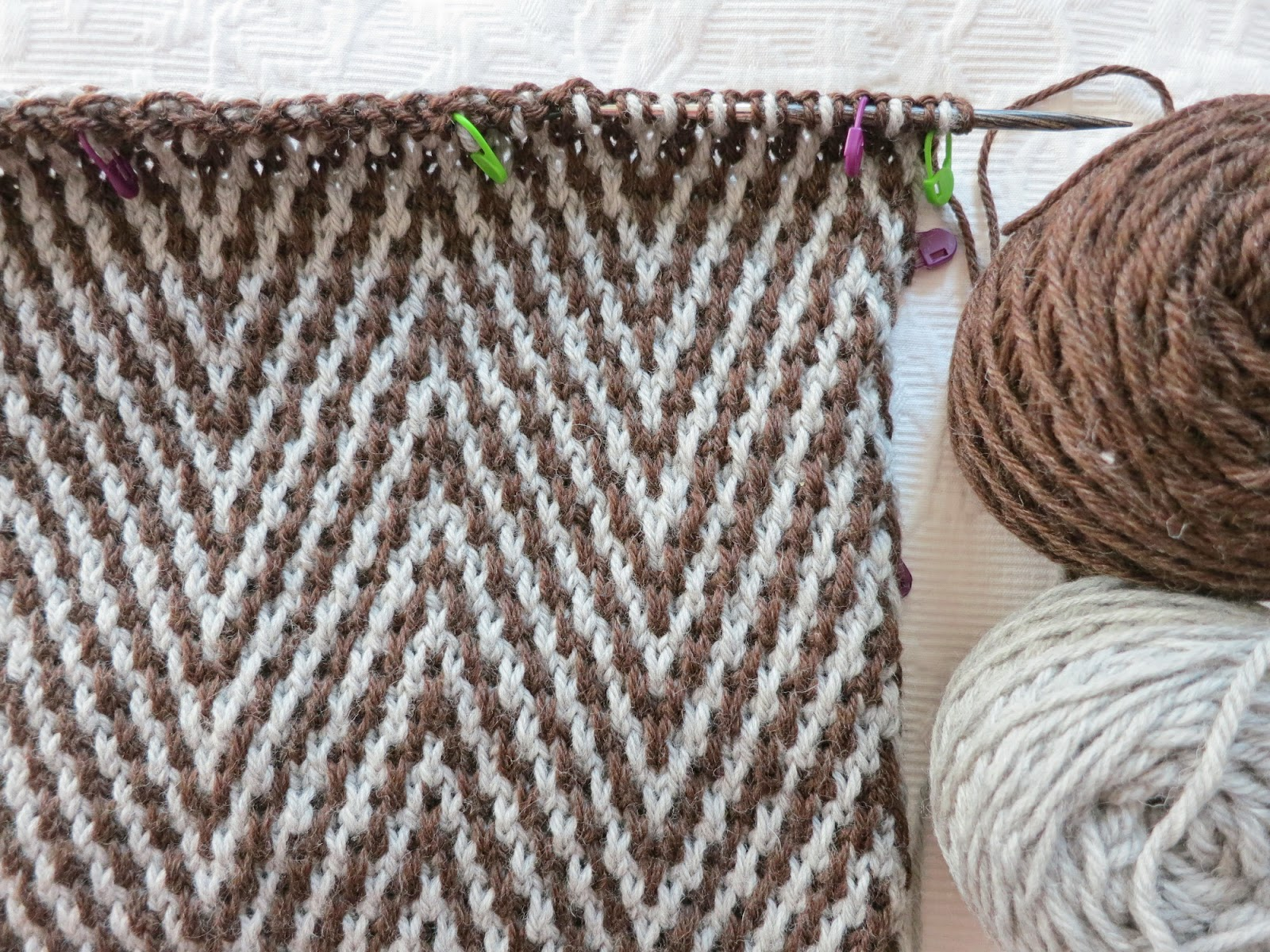 Chocolate à chuva: on mosaic knitting