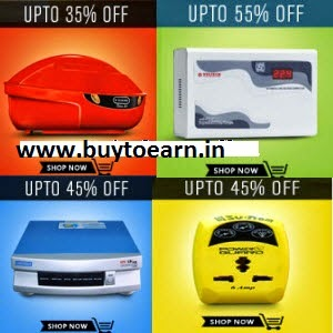 Snapdeal: Buy Stabilizers & Inverters upto 63% off from Rs. 697
