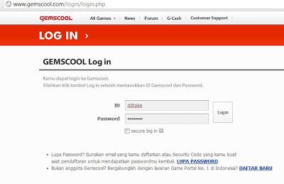 Cara Verifikasi Email Id Char Lost Saga Gemscool Agar Tidak Dihack