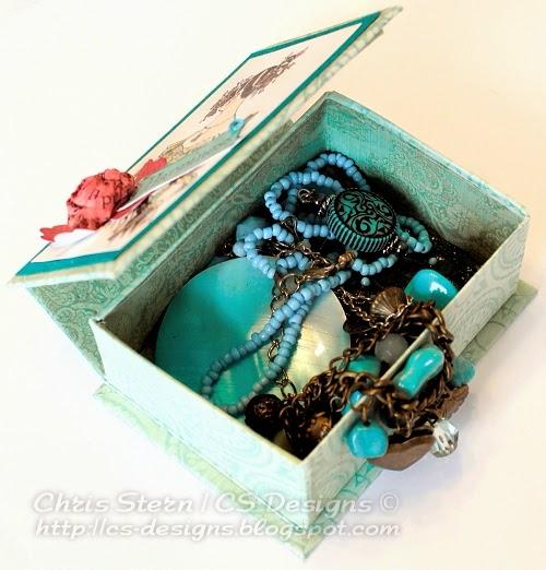 recycled art altered jewelry trinket box