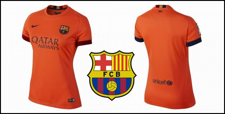 Nike FC Barcelona Away WOMEN's Jersey 14-15