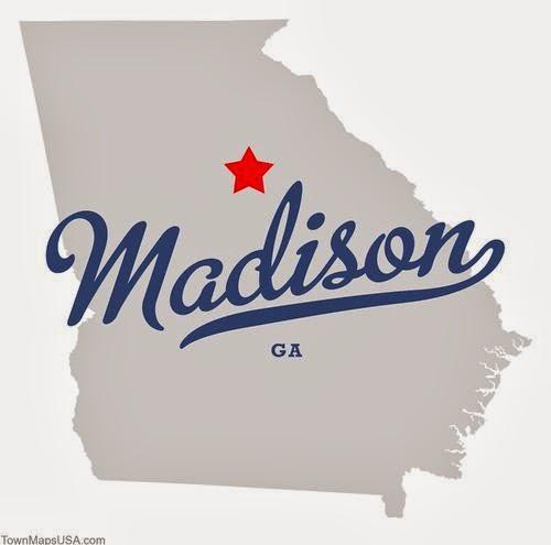Map of Madison, GA