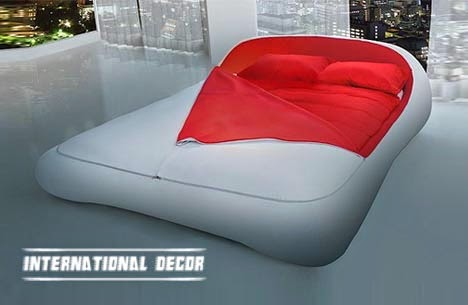 Futuristic Bed and attractive sleeping bag design