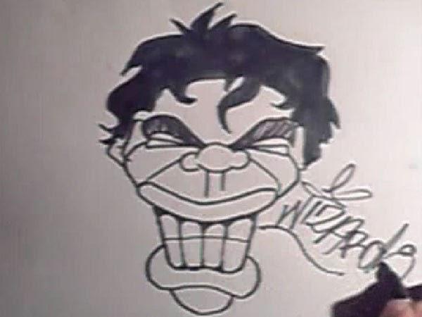 graffiti cartoon characters photo