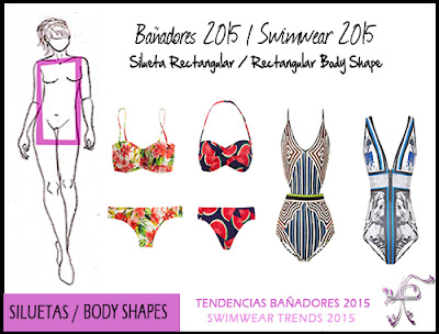 Swimwear Rectangular Body Shape