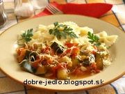 Cuketovo-paradajkové cestoviny - recept
