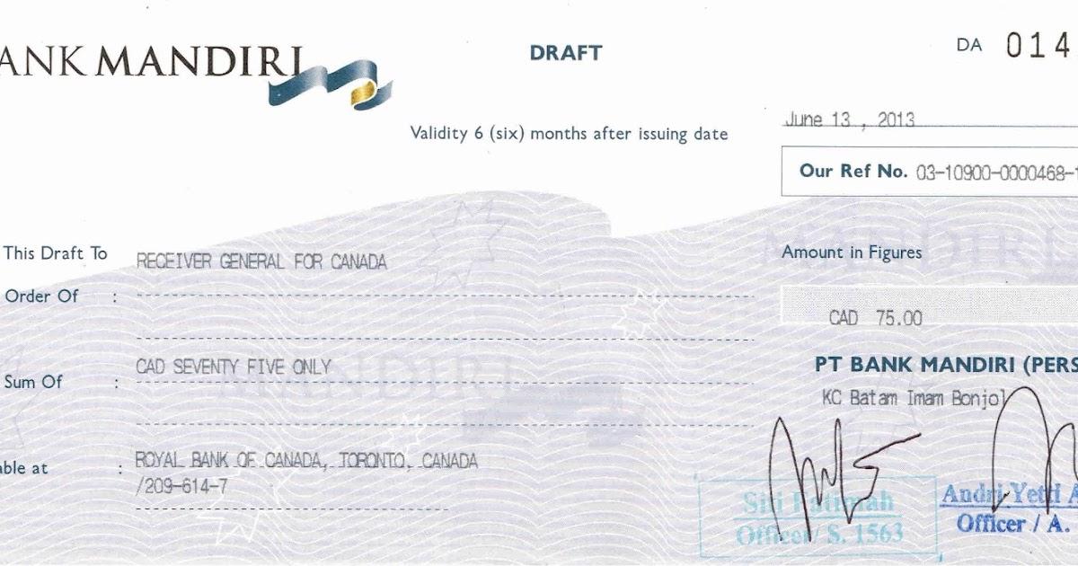 Gado~gado InCa: Pembuatan Bank Draft di Indonesia