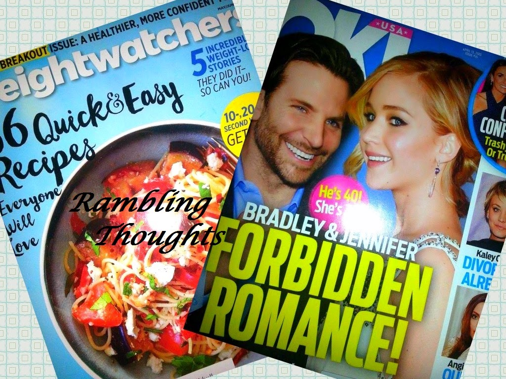 Rambling Thoughts, mail, free, mail call, bragging time, products, samples, magazines, coupons, Ok! magazine, Weightwatchers magazine
