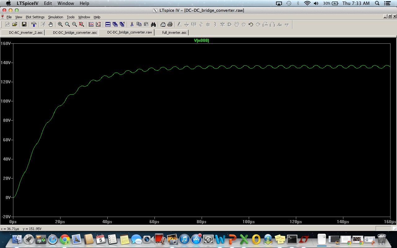 152 Final Project Full Bridge Inverter Figure 2 H Circuit Fig Spice Simulation Of The Dc Converter Stage