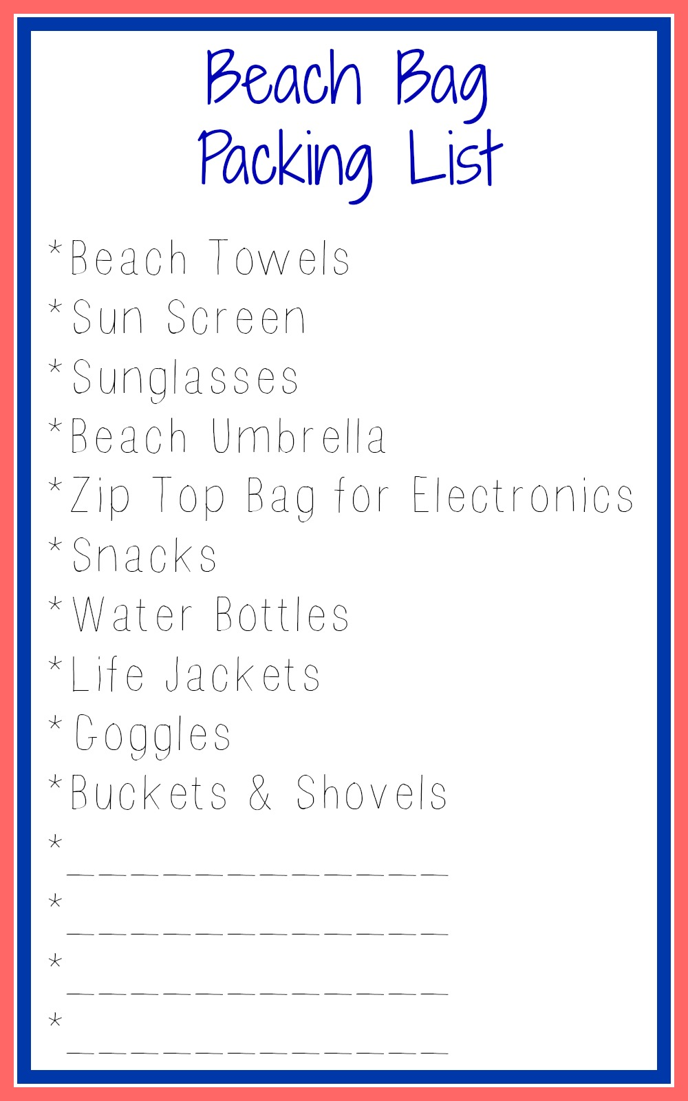Enter The Simplified Beach Bag Packing List
