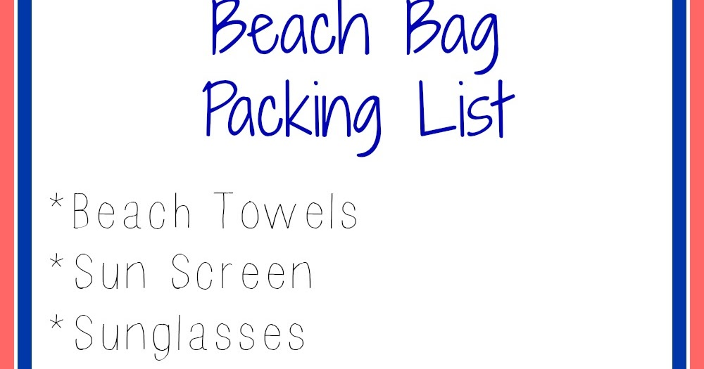 Beth Celestin: What's in Your Beach Bag?