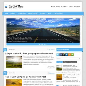 WestWard blog template. magazine blogger template style. magazine style template blogspot
