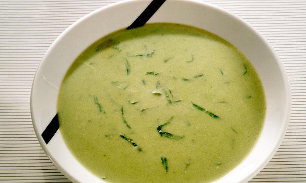 Receita de Caldo verde com mandioquinha