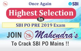 ONCE AGAIN HIGHEST SELECTION IN SBI PO PRE 2019 EXAM