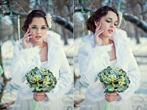 Stylizacja na zimowy ślub