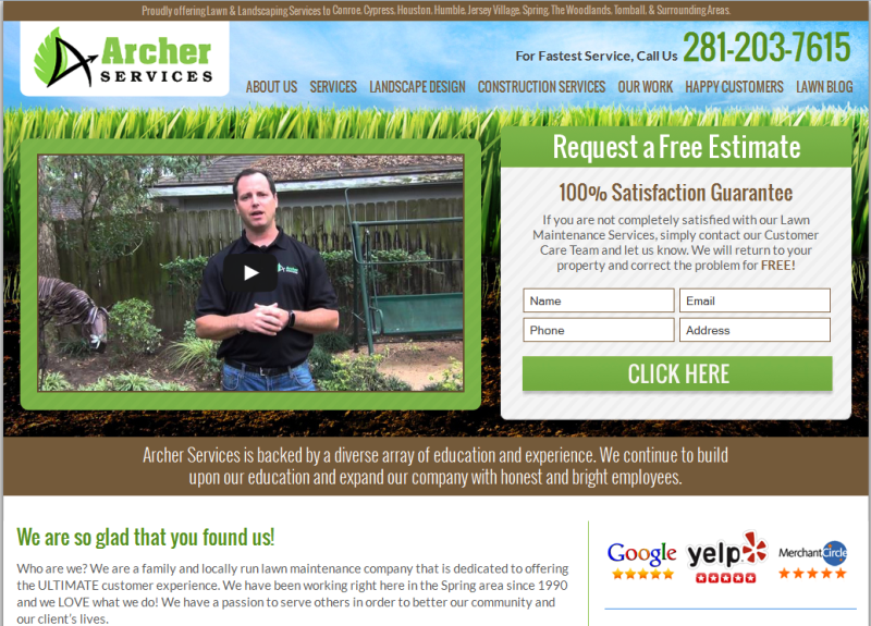 leading lawn care and landscaping contractors in Texas