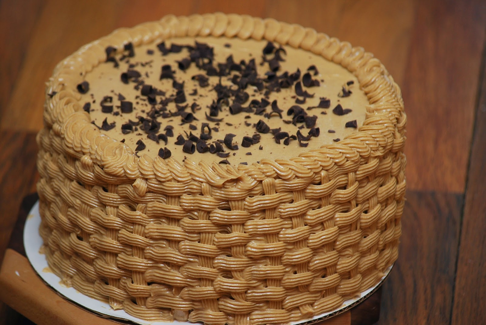 in recipes: Banana Chocolate Chip Cake with Peanut Butter Frosting
