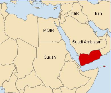 Yemen'in Haritalarda Yeri
