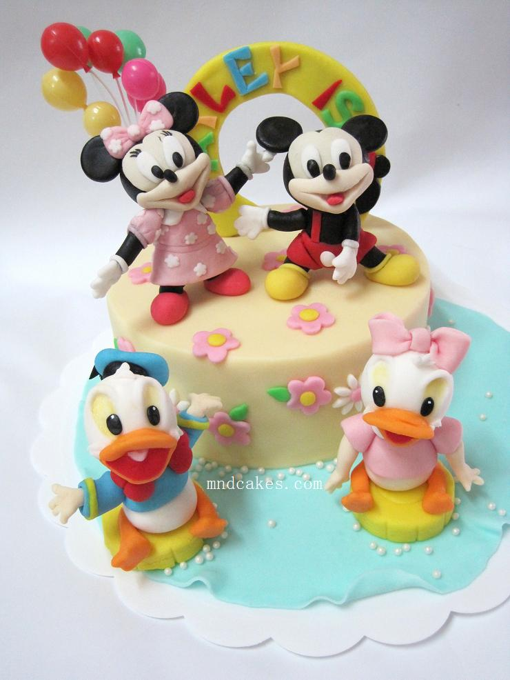Mom And Daughter Cakes Minnie And Friends 1st Birthday Cake For Hayley