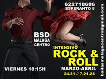 ROCK & ROLL INTENSIVO  EN ABRIL  EN BSD BAILAS MÁLAGA CENTRO.