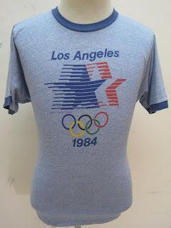 VINTAGE LEVIS OLYMPICS RINGER 1984 T SHIRT (SOLD)