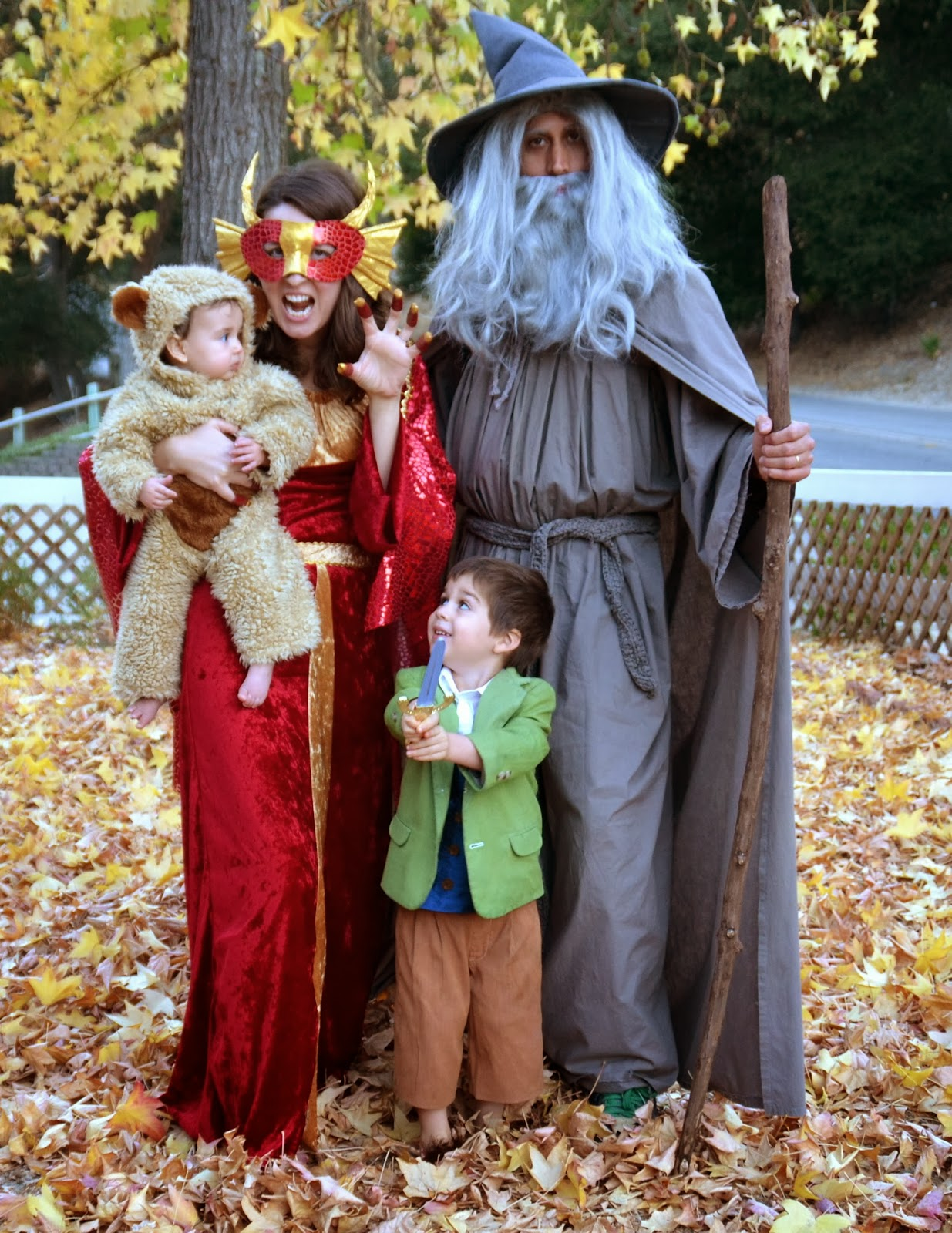 ... he would someday read the book to our 3-year-old and that 3-year-old would get so into the story that it would inspire a family Halloween costume .  sc 1 st  beyond fine & BEYOND FINE: Hobbit Family Costume