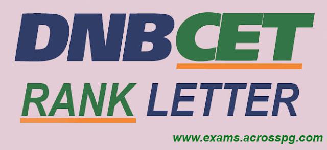 DNB CET Nov 2012 Rank Letter