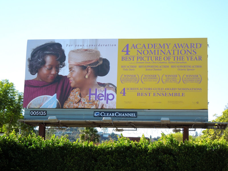 The Help Oscar consideration billboard
