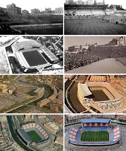 ** Estadios históricos del Club Atlético de Madrid