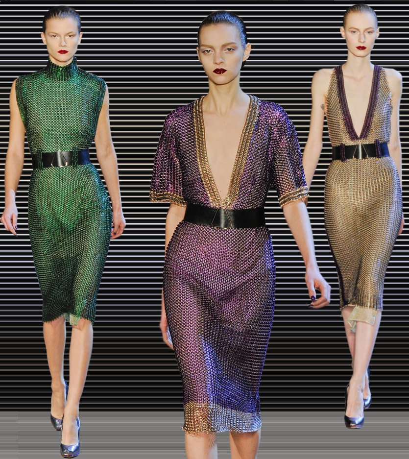 Fashion & Lifestyle: Yves Saint Laurent Chainmail Dresses Fall ...