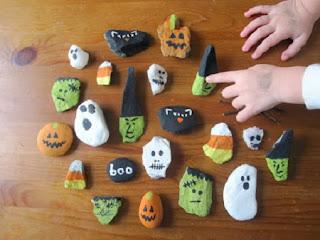 Piedras Pintadas, Diseños Halloween, Parte 2