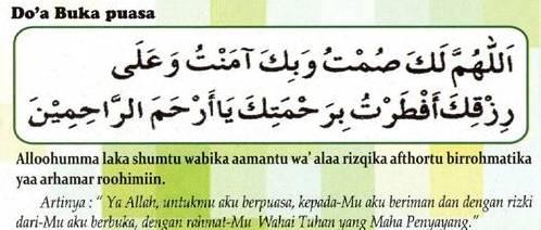 Niat Puasa Ramadhan dan Doa Berbuka Puasa