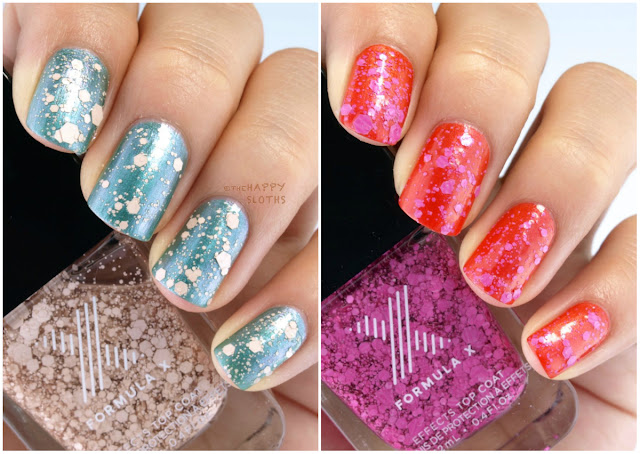 """Formula X Effects Top Coat in """"Down to Earth"""" & """"Frenzy"""": Review and Swatches"""