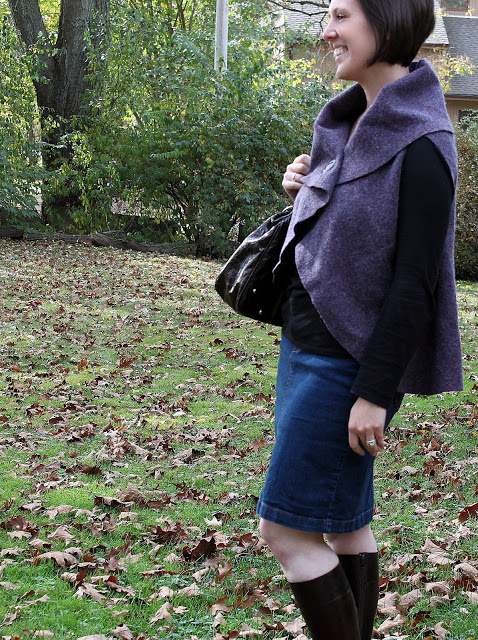 shawl collar sweater diy