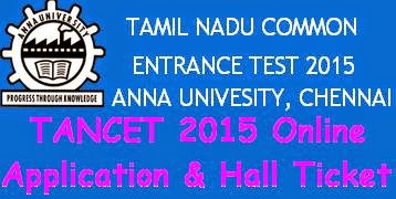 TANCET 2015 Hall Ticket - Online Application Form