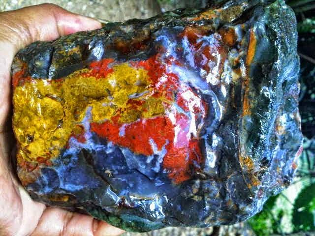 jual bahan batu akik pancawarna