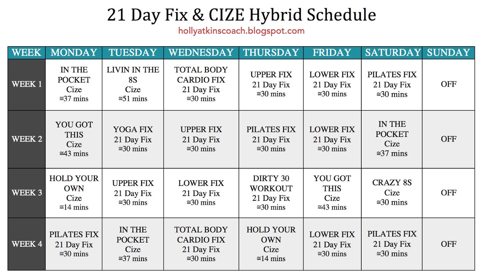 xxi schedule